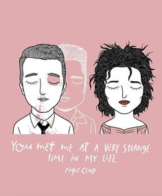 Alejandro Giraldo. Tyler Durden y Marla Singer, The Fight Club.