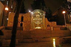 The Golden Menorah at the Jewish Quarter in Jerusalem.
