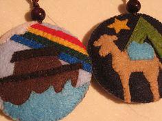 around the globe Jessie Tree Ornaments, Felt Christmas, Christmas Ornaments, Felt Diy, Nativity, Garland, Holiday Decor, Special Holidays, Crafts