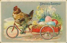 Винтажные открытки к Пасхе сделанные в России 4 (700x448, 95Kb)