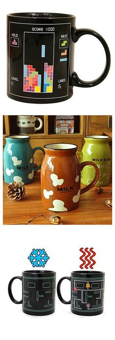 Do you like these interesting and unique mugs? Choose one that would be a nice present for Mother's Day!
