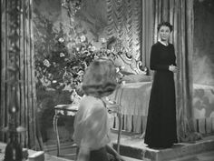 """Rebecca"" (1940) Joan Fontaine and Judith Anderson."