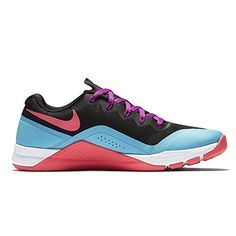 free shipping 599d7 e65c8 Amazon.com   Nike Women s Metcon Repper DSX Training Shoes (6.5 B(M) US,  Black Chlorine Blue Hyper Violet Racer Pink)   Road Running