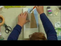 Textures to use for making a dainty dress on a canvas, via Collage Cloth Paper Scissors Preview - YouTube