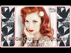 ▶ Vintage 1950's curly hair tutorial ala Marilyn Monroe by CHERRY DOLLFACE - YouTube