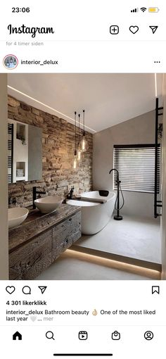 Bath Decor, Clawfoot Bathtub, Corner Bathtub, Powder Room, Master Bathroom, New Homes, Mirror, Furniture, Design