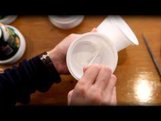 lamp from yogurt cups video tutorial
