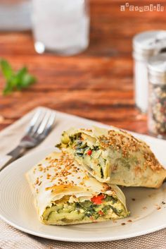 Veggie strudel.......very easily modified for whatever veggies you have.