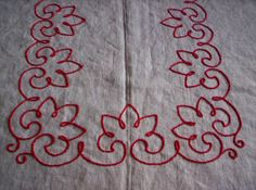 Can try with chain stitch with rows ofdifferent colours. Border Embroidery Designs, Kurti Embroidery Design, Embroidery Sampler, Hand Embroidery Stitches, Ribbon Embroidery, Embroidery Art, Cross Stitch Embroidery, Embroidery Patterns, Machine Embroidery