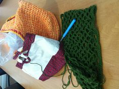 @Nicole Maltby crocheted her Market Bag through lunch :) #joannCPAL