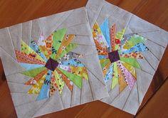 paper pieced daisy. Template here: www.winnowing.com...