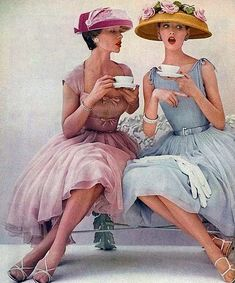 Where else but #DotClothing Cardiff for fabulous frocks and a cuppa ? #EasterHatsForWomen