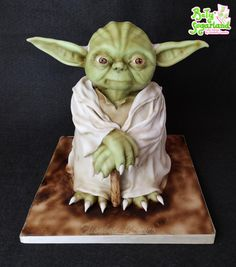 May the Force be with You! Crazy Cakes, Fancy Cakes, Cute Cakes, 3d Cakes, Fondant Cakes, Cupcake Cakes, Theme Star Wars, Star Wars Cake, Easy Kids Birthday Cakes
