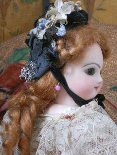 ~~~ Petite French Bisque Poupee with Lovely Face ~~~