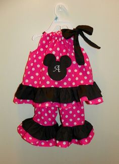 Minnie mickey mouse outfit set