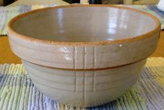 VINTAGE stone ware mixing nesting bowl grey DECO by janedelmar