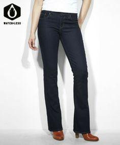 Classic Rise Demi Curve Boot Cut Jeans - Clear Rinse - Levi's - levi.com
