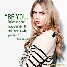 Embrace your individuality #beyou! #quotes #inspiration