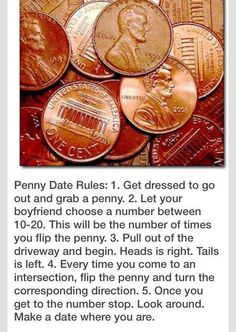 Penny Date Rules - #Money, #Penny