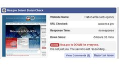 NSA site down due to alleged DDoS attack - http://isbigbrotherwatchingyou.com/2013/10/25/internet-spying-and-secrecy/nsa-site-down-due-to-alleged-ddos-attack/