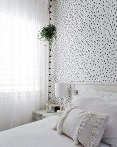 Add Beauty To Your Home (@sandbergwallpaper) • Foton och videoklipp på Instagram Bedroom Wallpaper, Inspirational Wallpapers, Wall Murals, Cosy, Curtains, Cool Stuff, Beauty, Instagram, Wallpaper Murals