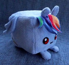I'm not a brony, but... My Little Pony: Friendship is Magic Custom Rainbow Dash Cube Pillow Plush