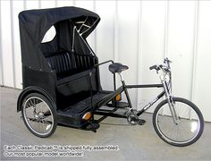 Main Street Pedicabs™ | The Broadway Pedicab™ - Provides a more Luxurious 3 Passenger Ride