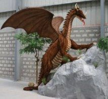 You may not be the mother of dragons, but don't let that stop you from having your very own dragon in your home with this giant crimson dragon statue. This plush eight foot tall dragon statue is a must have piece for any fantasy themed bedroom. Big Dragon, Dragon Art, Dragon Claw, The Mother Of Dragons, Giant Stuffed Animals, Dragon Statue, Medieval Knight, Ride On Toys, Rich Kids
