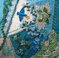 As mentioned in a previous post, I recently hosted a Crazy Quilt Challenge Contest on the HGTV Quilting Forum. All votes were tabulated lat. Crazy Quilting, Crazy Quilt Stitches, Crazy Quilt Blocks, Crazy Patchwork, Quilting Tips, Silk Ribbon Embroidery, Embroidery Stitches, Embroidery Patterns, Hand Embroidery