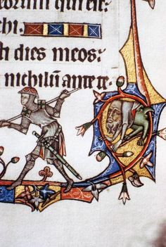 Ormesby Psalter (detail)  14th century  Illumination on parchment  Bodleian Library, Oxford