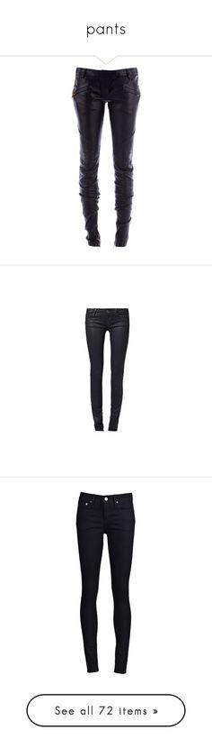 """pants"" by kerstinxx ❤ liked on Polyvore featuring pants, bottoms, jeans, pantalones, calças, trousers, women, skinny leg pants, zipper pocket pants and super skinny pants"