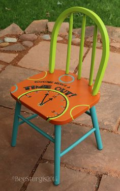 1000 ideas about hand painted chairs on pinterest - Paint for childrens furniture ...