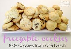 100+ freezable cookies, all from 1 batch  www.theorganisedhousewife.com.au