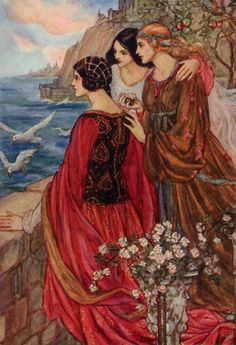 Emma Florence Harrison - Illustration to William Morris Sailing of the Sword