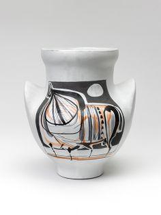 Roger CAPRON Vase à Oreilles Taureau - Ears vase Taurus