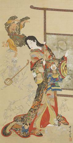Painting by Kawanabe Kyosai (1831-1889), Japan