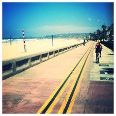 Beach cruisers on the boardwalk! Mission Beach, San Diego, CA