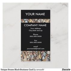 Unique Stones Black Business Card Black Business Card, Unique Business Cards, Business Supplies, Company Names, Gifts For Dad, Stones, Things To Come, Cards Against Humanity, How To Make