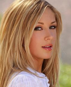 Blonde Hair Hazel Eyes Women | Pretty Girl with Brown Hair