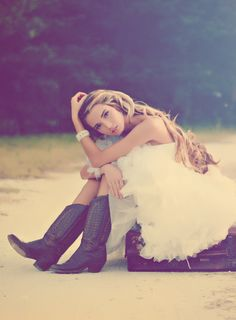 Something a little fun and different.  I love the boots, dress, hair, bracelet, pose... everything!  She is beautiful too. :)