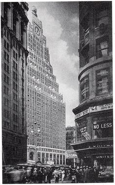 The 35 Story Paramount Building in NYC's Time Square. Build 1926 in the Art Deco Style, the architecture rises through a series of set backs to a rectangular tower with a magnificent clock face and then reaches its pinnacle with a 20 foot diameter glass globe.
