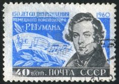 Composers on Stamps:Russia Schumann 1960