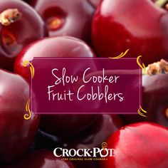 Use fresh produce to make a Slow Cooker Fruit Cobbler! They're easy to prep and can cook while you eat dinner. #CrockPot