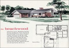 See Mid Century Home Style for more plans. By the early 60s most of the old kit home companies had fallen by the wayside. Aladdin and Lewis Manufacturing still put out their catalogs, but the ready-cut concept and delivery idea must have seemed quaint to a generation accustomed to huge swaths of tract housing. In 1960, this home cost $11,477. Source: Liberty Ready Cut Homes