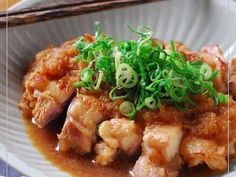Tart Vinegar Sauce Chicken Simmered with Grated Daikon Recipe - Yummy this dish is very delicous. Let's make Tart Vinegar Sauce Chicken Simmered with Grated Daikon in your home! Whole Chicken Recipes Oven, Marinated Chicken Recipes, Indian Chicken Recipes, Asian Recipes, Ground Chicken, Sushi Recipes, Meat Recipes, Chicken, Snacks