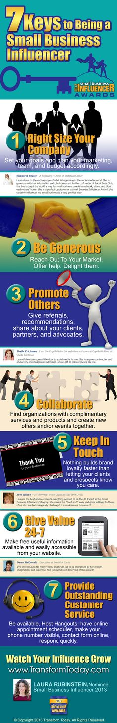 7 Keys To Being A Small Business Influencer [Infographic]