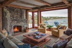 New England style beach cottage overlooking Katama Bay