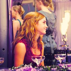 Hermione at the wedding.
