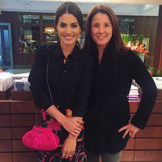 """""""With the sweetest Adriana Trussardi! --------- Que delicia de almoço com a querida e doce Adriana Trussardi, que me ajudou a escolher o enxoval da casa…"""""""