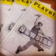 Newsies on Broadway Playbills. One of my FAVORITE SHOWS!!